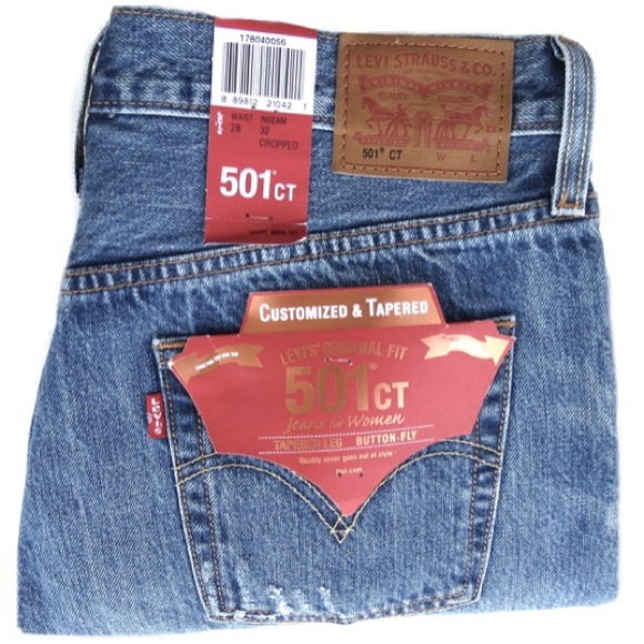 1f5d2bde Levi's Jeans   Nwt Levis 501 Ct Womens Button Fly Cropped   Poshmark